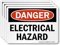 Electrical Hazard OSHA Danger Label