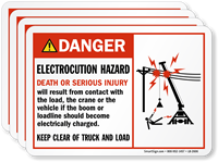 Electrocution Hazard Death Or Serious Injury Danger Label
