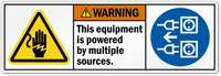 This Equipment Powered By Multiple Sources Label