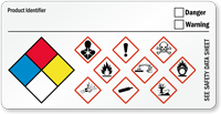 GHS Hazard and NFPA Diamond Combo Label
