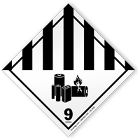 Class 9 Lithium Battery Label
