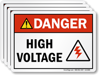 High Voltage With Graphic Danger Label