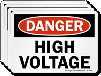 High Voltage OSHA Danger Label