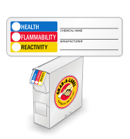 HMIS Mini Vinyl Chemical Label