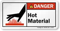 Hot Material ANSI Danger Label