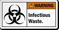 Infectious Waste Biohazard ANSI Warning Label