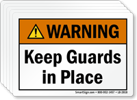 Keep Guards In Place ANSI Warning Label