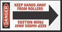Keep Hands Away Arrow Label