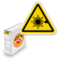 ISO Laser Beam Grab-a-Labels in Dispenser Box