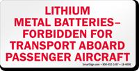 Lithium Metal Batteries Label