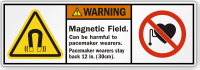 Magnetic Field Harmful To Pacemaker Wearers Warning Label
