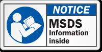 MSDS Information Inside ANSI Notice Label