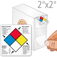 NFPA Paper Hazard Labels (500/Roll)
