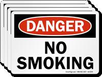 No Smoking OSHA Danger Label
