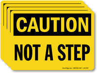 Not A Step OSHA Caution Label
