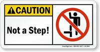 Not a Step Caution Label
