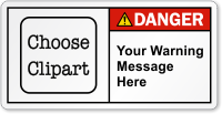 Personalized Text ANSI Danger Label
