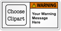 Personalized Message ANSI Warning Label