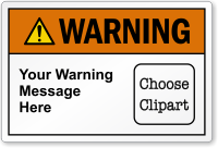 Personalized ANSI Warning Choose Clipart Label