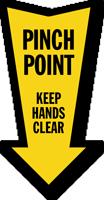 Pinch Point Arrow Safety Label