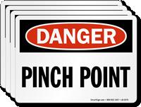 Pinch Point OSHA Danger Label