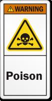 Poison ANSI Warning Label