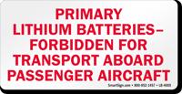Primary Lithium Batteries Label