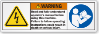 Read And Fully Understand Operator's Manual Warning Label