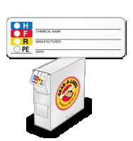 RTK Color Bar Mini Label, Writable Chemical Name