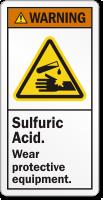 Sulfuric Acid Wear Protective Equipment Label