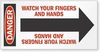 Watch Fingers And Hands Arrow Label