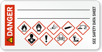 Danger, GHS Hazard Secondary Label