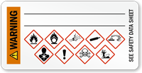 Warning, GHS Hazard Secondary Label