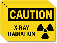 X-Ray Radiation OSHA Caution Label With Graphic