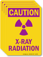 X-Ray Radiation With Graphic OSHA Caution Label