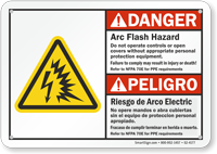 Arc Flash And Shock Hazards Sign