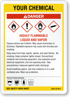 Customizable GHS Chemical Danger Sign