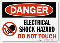 Danger Electrical Shock Hazard Sign