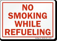 No Smoking While Refueling