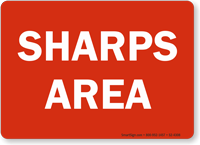 Sharps Area Safety Sign
