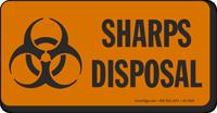Sharps Disposal Biohazard Sign