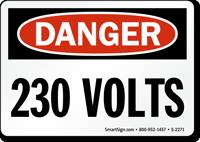 Danger: 230 Volts