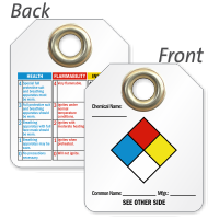 2 Sided NFPA Hazardous Material Tag