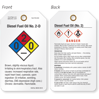 Diesel Fuel Oil GHS and NFPA Tag