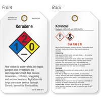 Kerosene GHS and NFPA Tag