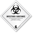 Infectious Substance Vinyl HazMat Label