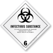 Infectious Substance Paper HazMat Label