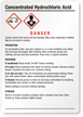 Concentrated Hydrochloric Acid Medium GHS Chemical Label