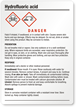 Hydrofluoric Acid Medium GHS Chemical Label