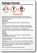 Hydrogen Peroxide Chemical GHS Label, 5in. x 3.5in.